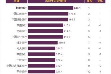 招行信用卡第10次登顶中国品牌力指数行业榜首